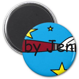 Materia del logotipo imán redondo 5 cm