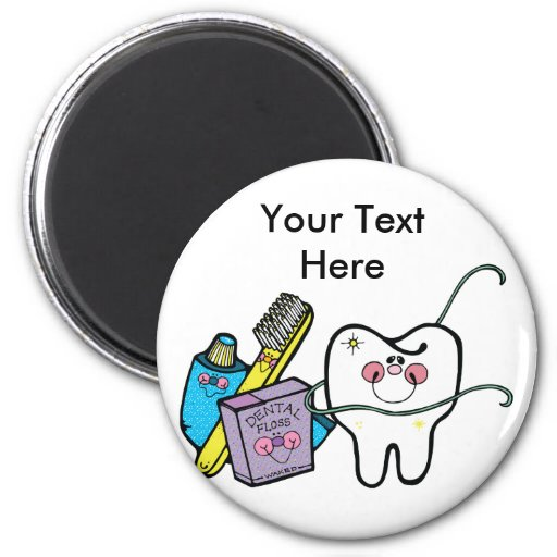Materia dental para dentista día el 6 de marzo imán