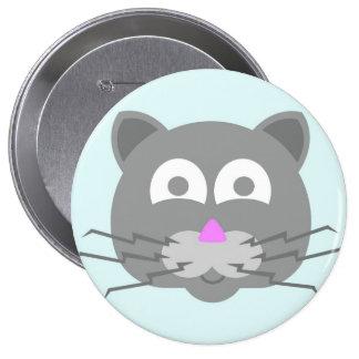 materia en mi gato - gato del gatito pin redondo de 4 pulgadas