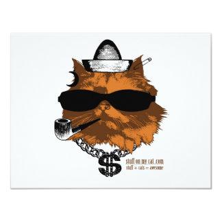 """Materia en mi gato - kewl 2 invitación 4.25"""" x 5.5"""""""