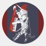 materia en mi gato - keytar etiqueta redonda