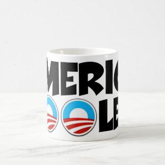 Materia engañar-anti de América Obama Taza