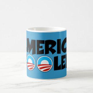 Materia engañar-anti de América Obama Tazas
