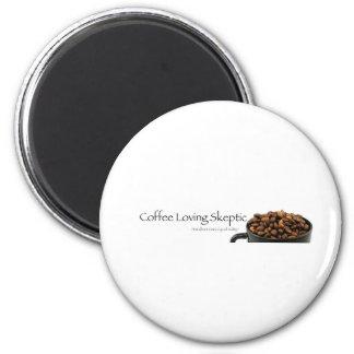 ¡Materia escéptica cariñosa del café! Imán Redondo 5 Cm