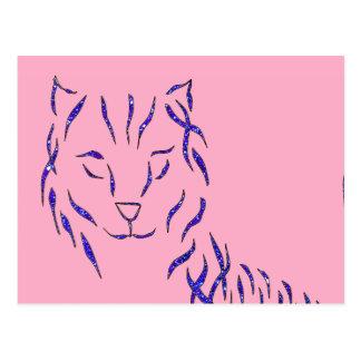 Materia femenina del chica de w de la chispa del tarjeta postal