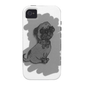 materia gris del perro del barro amasado Case-Mate iPhone 4 funda
