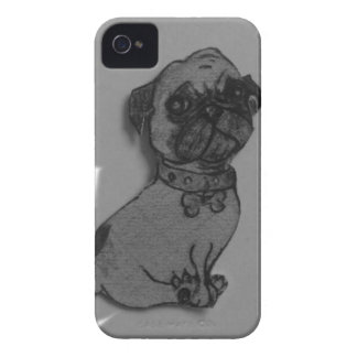 materia gris del perro del barro amasado iPhone 4 Case-Mate protector
