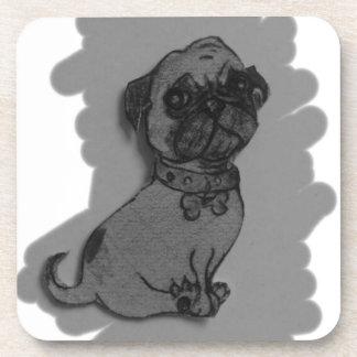 materia gris del perro del barro amasado posavasos de bebida