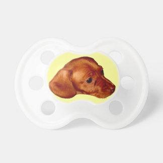 Materia linda del bebé del Dachshund del Chupete De Bebé
