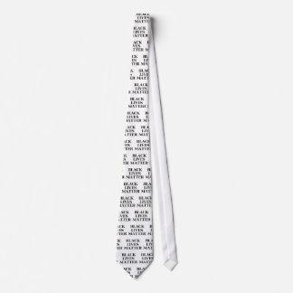 Materia negra de las vidas corbata personalizada