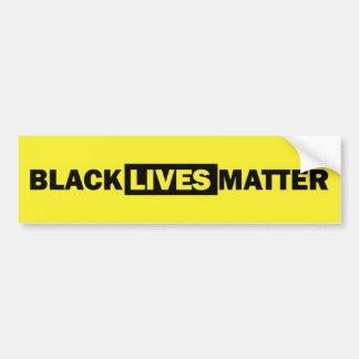 Materia negra de las vidas pegatina para auto