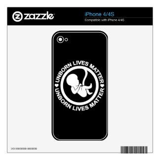 Materia nonata de las vidas skins para iPhone 4S