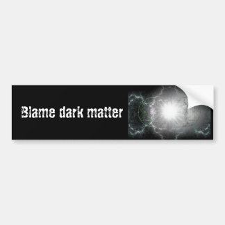 Materia oscura de la culpa pegatina para auto