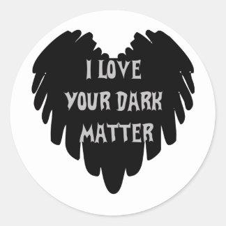 Materia oscura pegatina redonda