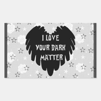 Materia oscura pegatina rectangular