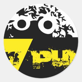 Materia putrefacta de Logo'd de las marionetas Pegatina Redonda