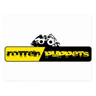 Materia putrefacta de Logo'd de las marionetas Tarjeta Postal