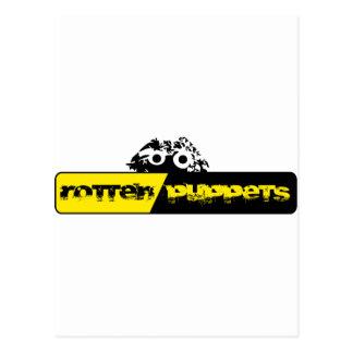 Materia putrefacta de Logo'd de las marionetas Postal