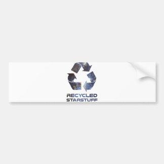 Materia reciclada de la estrella pegatina para coche