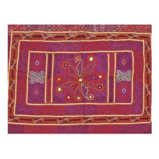 Materia textil afgana del boda postales