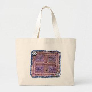 Materia textil afgana del vintage: Púrpura Bolsa