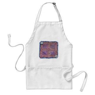 Materia textil afgana del vintage: Púrpura Delantal