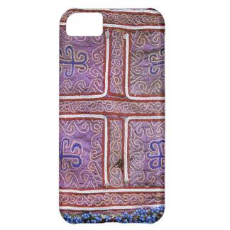 Materia textil afgana del vintage: Púrpura