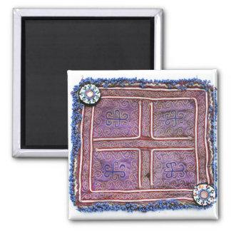 Materia textil afgana del vintage: Púrpura Iman
