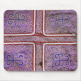Materia textil afgana del vintage: Púrpura Alfombrilla De Ratón