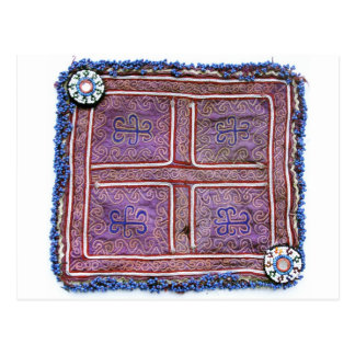 Materia textil afgana del vintage: Púrpura Postal