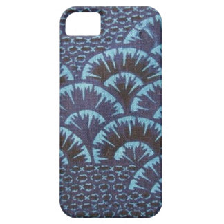 materia textil azul japonesa Iphone5 de la ola iPhone 5 Funda