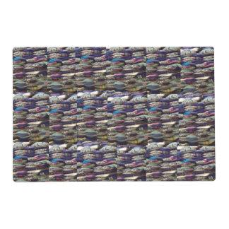 Materia textil azul que teje Placemat por Tapete Individual