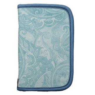 Materia textil azul suave de Paisley del vintage Organizador
