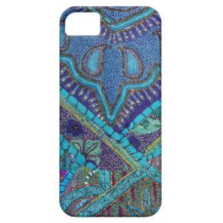 Materia textil bordada moldeada antigua del funda para iPhone SE/5/5s