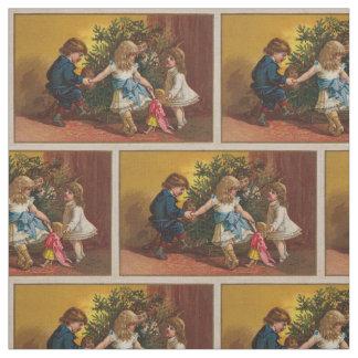 Materia textil colorida de los juegos del navidad telas