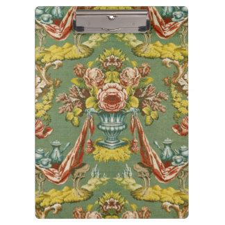 Materia textil con un adorno floral de repetición