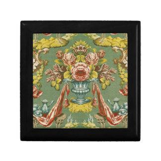 Materia textil con un adorno floral de repetición cajas de regalo