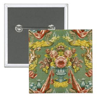 Materia textil con un adorno floral de repetición pin cuadrado