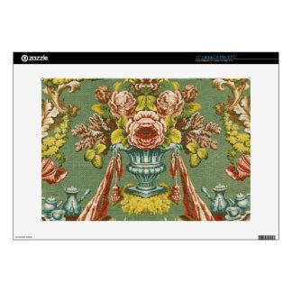 Materia textil con un adorno floral de repetición skins para 38,1cm portátil