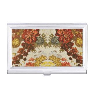 Materia textil con un estampado de flores de caja de tarjetas de visita