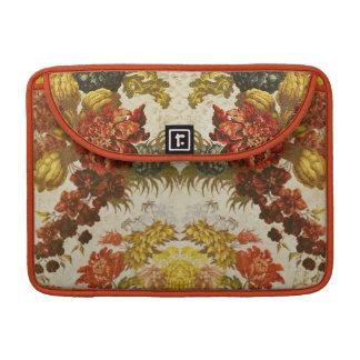 Materia textil con un estampado de flores de fundas macbook pro