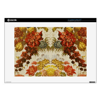 Materia textil con un estampado de flores de portátil 38,1cm skin