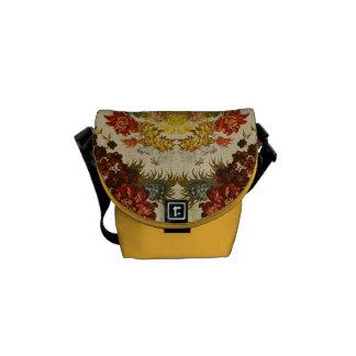 Materia textil con un estampado de flores de repet bolsa de mensajería