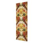 Materia textil con un estampado de flores de repet impresión en lienzo estirada