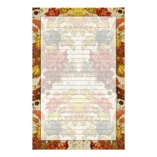 Materia textil con un estampado de flores de repet  papeleria