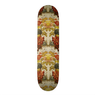 Materia textil con un estampado de flores de repet skate boards