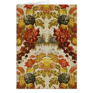 Materia textil con un estampado de flores de repet tarjeta de felicitación