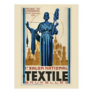 materia textil de Bruselas del art déco de los año Postal