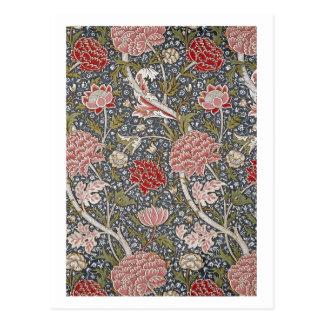 Materia textil de Cray de William Morris Postales