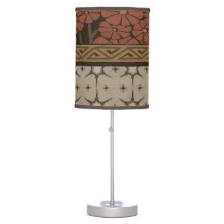 Materia textil de la herencia con los modelos lámpara de mesa